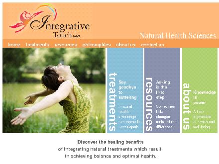 Integrative Touch Natural Health Sciences (905-333-8860) - Onglet de site Web - http://www.naturalhealthsciences.ca