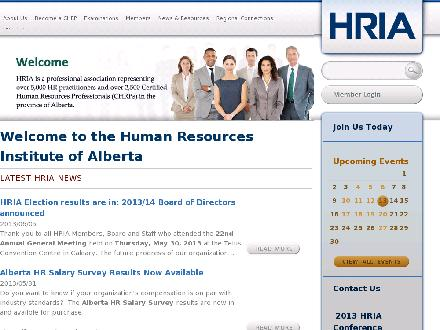 Human Resource Institute of Alberta (403-209-2420) - Onglet de site Web - http://www.hria.ca