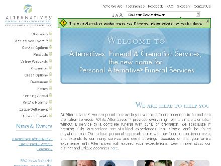 Alternatives Funeral & Cremation Services (604-275-7755) - Onglet de site Web - http://www.myalternatives.ca