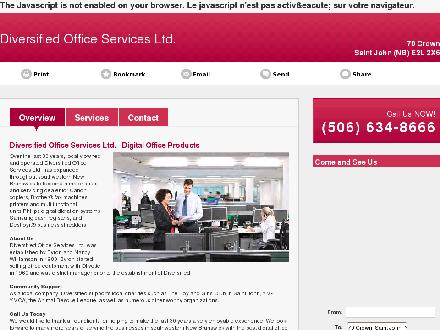 Diversified Office Services Ltd (506-634-8666) - Website thumbnail - http://diversifiedofficeservices.ca