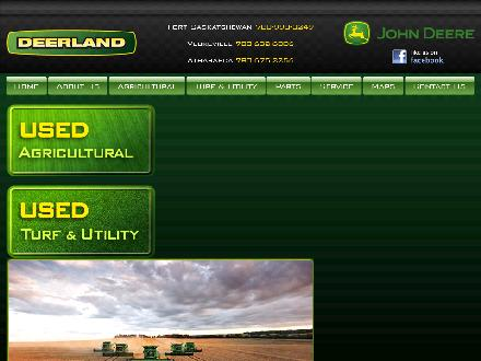 Deerland Equipment Ltd (780-998-3249) - Website thumbnail - http://www.deerland.ca
