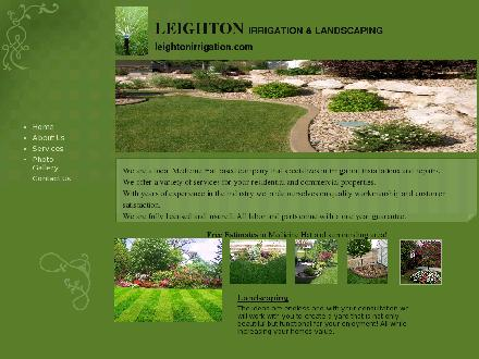 Leighton Irrigation & Landscaping (403-952-0096) - Onglet de site Web - http://www.leightonirrigation.com