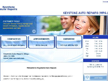 Keystone Auto Repairs (Wpg) (204-775-1985) - Onglet de site Web - http://www.keystoneautorepairs.com