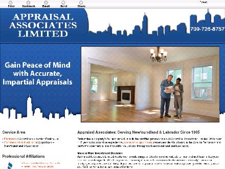Appraisal Associates Limited (709-726-8757) - Website thumbnail - http://appraisalassociateslimited.ca