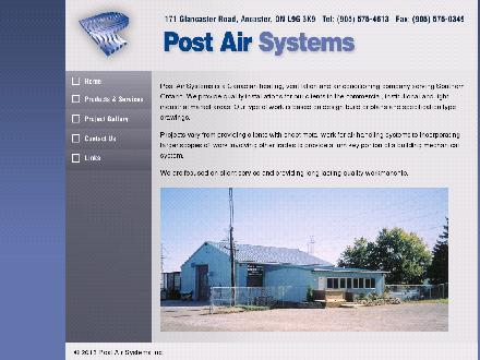 Post Air Systems Inc (905-575-4613) - Onglet de site Web - http://www.postairsystems.com