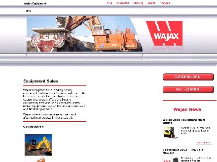 Wajax Equipment (403-279-7278) - Website thumbnail - http://www.wajax.ca