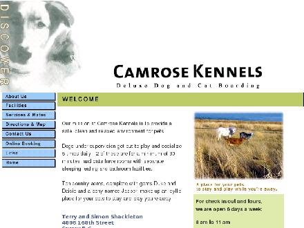 Camrose Kennels (604-576-6547) - Website thumbnail - http://www.camrosekennels.com