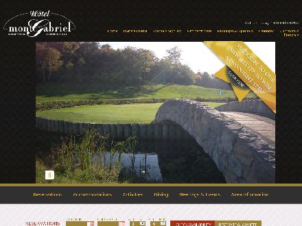 H&ocirc;tel Mont Gabriel Inc (1-800-752-3518) - Website thumbnail - http://www.montgabriel.com