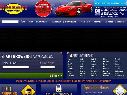 Hotspot Auto Parts (1-888-265-2109) - Website thumbnail - http://www.hotspotautoparts.com