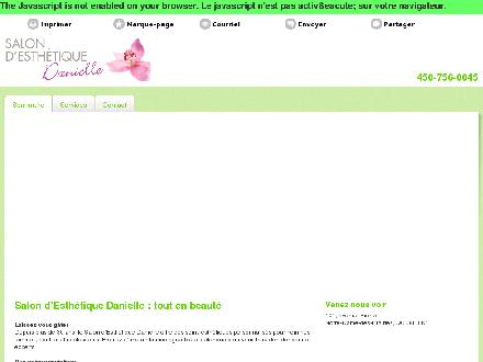 Salon Esthetique Danielle (450-875-1004) - Onglet de site Web - http://esthetiquedanielle.com/