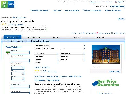 Holiday Inn Express Bowmanville (905-697-8089) - Website thumbnail - http://www.hiexpress.com/bowmanvilleon