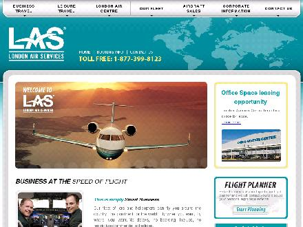 London Air Service (604-272-8123) - Onglet de site Web - http://www.londonair.ca