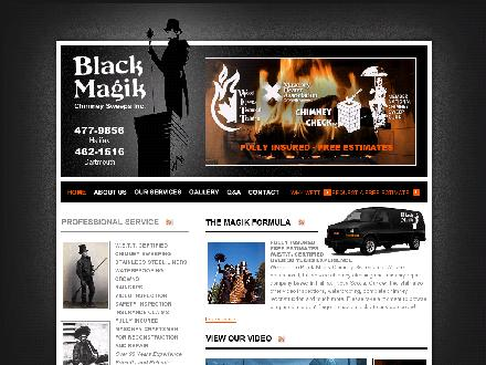 Black Magik Chimney Sweeps (902-477-9856) - Website thumbnail - http://www.blackmagik.ca