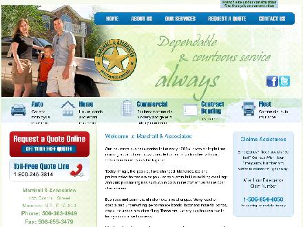 Marshall & Associates Insurance Ltd (506-383-4949) - Onglet de site Web - http://www.marshallinsurance.ca