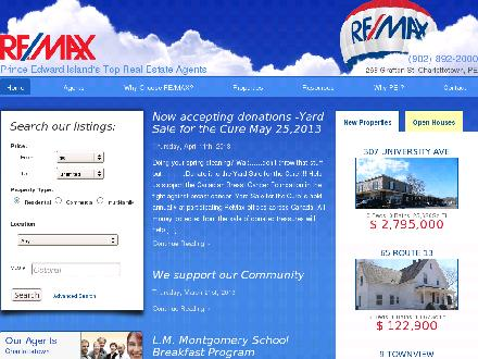 RE/MAX Charlottetown Realty (902-892-2000) - Website thumbnail - http://www.remax-charlottetownpei.com