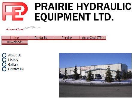 Prairie Hydraulic Equipment Ltd (403-279-2070) - Website thumbnail - http://www.prairiehydraulic.com