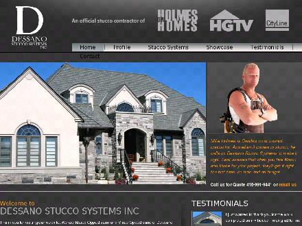 Dessano Stucco Systems Inc (905-821-7778) - Website thumbnail - http://www.dessano.com