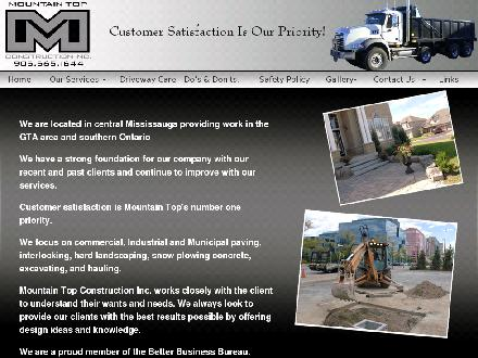 Mountain Top Construction Inc (289-801-0067) - Onglet de site Web - http://www.mountaintopconstruction.ca