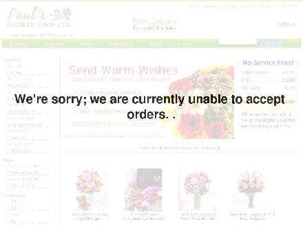 Paul's Flower Shop Ltd (506-847-7583) - Website thumbnail - http://www.paulsflowershop.ca