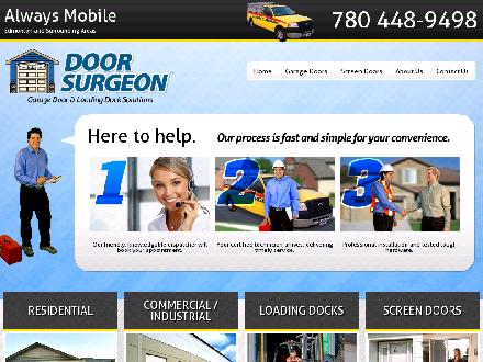 Door Surgeon (780-448-9498) - Website thumbnail - http://www.doorsurgeon.com