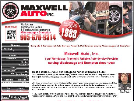 Maxwell Auto (289-804-0411) - Onglet de site Web - http://www.maxwellautomotive.com