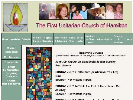 First Unitarian Church Of Hamilton (905-527-8441) - Website thumbnail - http://www.firstunitarianhamilton.org