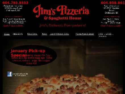 Jim's Pizzeria (604-793-9333) - Website thumbnail - http://www.jimsdowntown.com