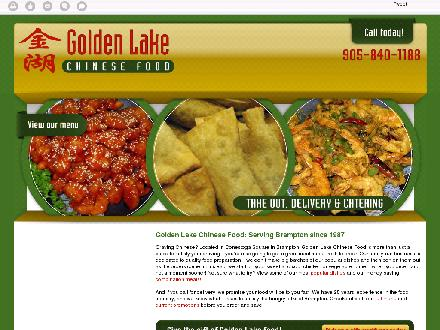 Golden Lake Chinese Food Restaurant (905-840-1188) - Website thumbnail - http://goldenlake.ca/