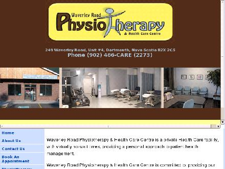 Waverley Road Physiotherapy Health Care Centre Inc (902-466-2273) - Onglet de site Web - http://www.waverleyroadphysiotherapy.com