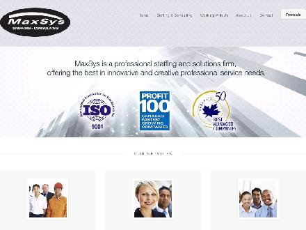 MaxSys Staffing &amp; Consulting (905-565-1518) - Onglet de site Web - http://www.maxsys.ca