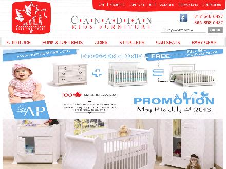 Canadian Kids Furniture Inc (613-549-5437) - Onglet de site Web - http://www.canadiankidsfurniture.ca