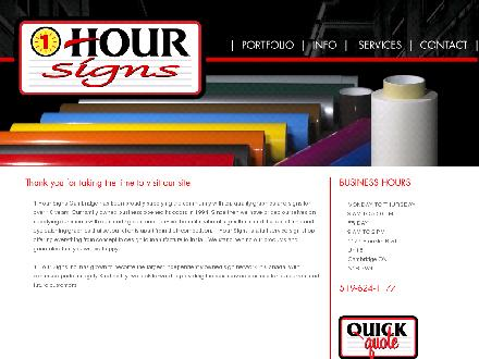 1 Hour Signs (519-624-1177) - Onglet de site Web - http://www.1hoursigns.co