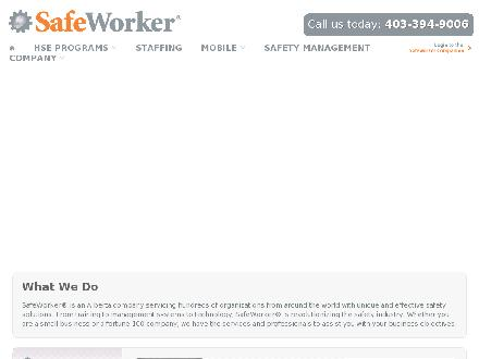 Workplace Safety & Healthcare (403-359-5798) - Onglet de site Web - http://www.safeworker.ca