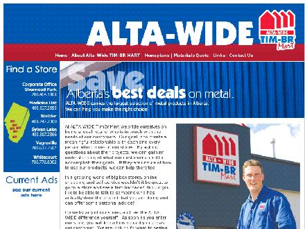 Alta-Wide Builders Supplies Ltd (780-464-1803) - Website thumbnail - http://www.altawide.com