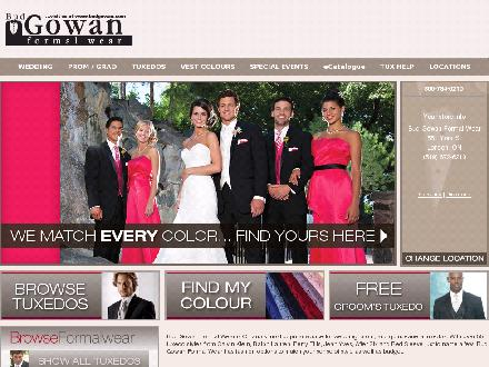 Bud Gowan Formal Wear (1-866-784-6210) - Website thumbnail - http://www.budgowan.com