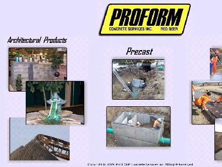 Proform Concrete Services Ltd (867-920-2500) - Website thumbnail - http://www.proformconcrete.com