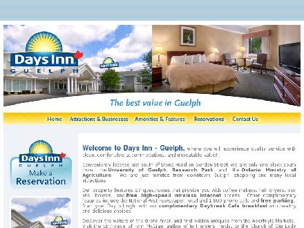 Days Inn Guelph (519-822-9112) - Website thumbnail - http://www.daysinnguelph.com/