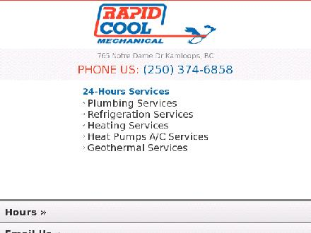 Rapid Cool Heating & Refrigeration (250-571-1558) - Website thumbnail - http://www.rapidcool.ca