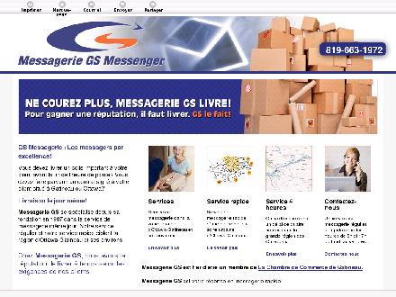 Messagerie GS Messenger (819-663-1972) - Onglet de site Web - http://www.messageriegs.ca