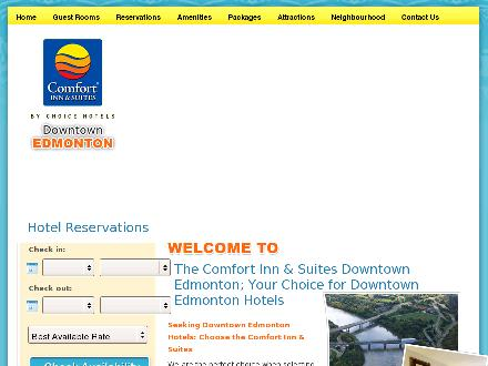Comfort Inn &amp; Suites-Edmonton (780-423-5611) - Website thumbnail - http://www.comfortinnedmonton.com