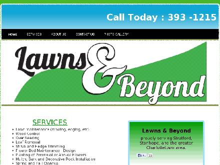 Lawns & Beyond (902-393-1215) - Onglet de site Web - http://www.lawnsandbeyond.ca