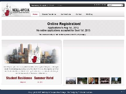 Neill-Wycik College Hotel (416-977-2320) - Website thumbnail - http://www.neill-wycik.com/