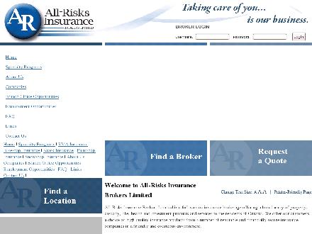 All Risks Insurance (519-886-4988) - Onglet de site Web - http://www.all-risks.com