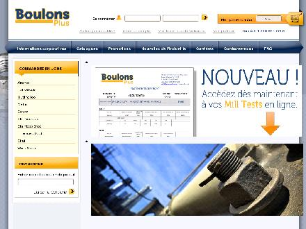 Boulons Plus (514-355-2383) - Website thumbnail - http://www.boulonsplus.net