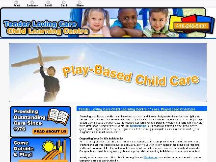 Tender Loving Care Child Learning Centres (416-248-5401) - Onglet de site Web - http://tenderlovingcare.ca