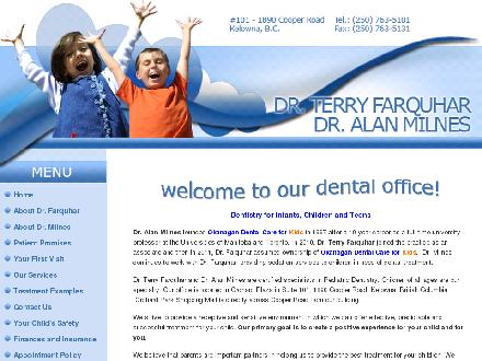Okanagan Dental Care For Kids (250-980-0621) - Onglet de site Web - http://www.okanagandentalcareforkids.com