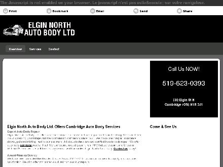 Elgin North Auto Body Ltd (519-623-0393) - Onglet de site Web - http://elginnorthauto.ca/