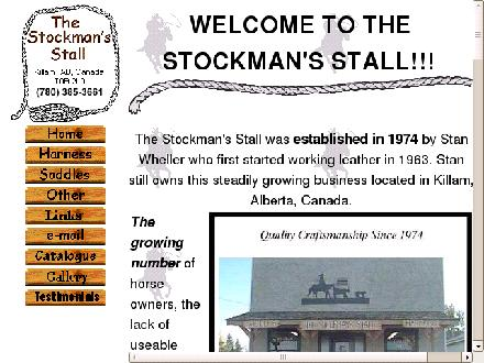 Stockman's Stall Saddlery & Harness (780-384-2199) - Website thumbnail - http://www.stockmanstall.com