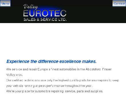 Valley Eurotec Sales & Services Ltd (604-864-8550) - Onglet de site Web - http://www.valleyeurotec.com