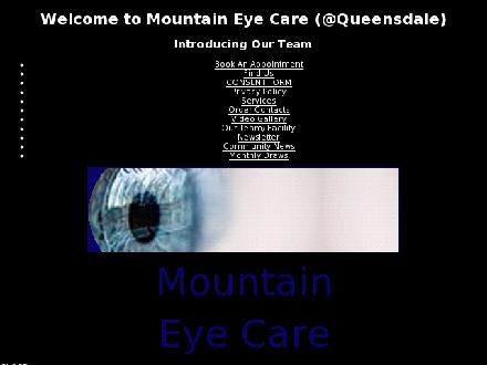Mountain Eye Care (289-975-4253) - Website thumbnail - http://www.mountaineyecare.net